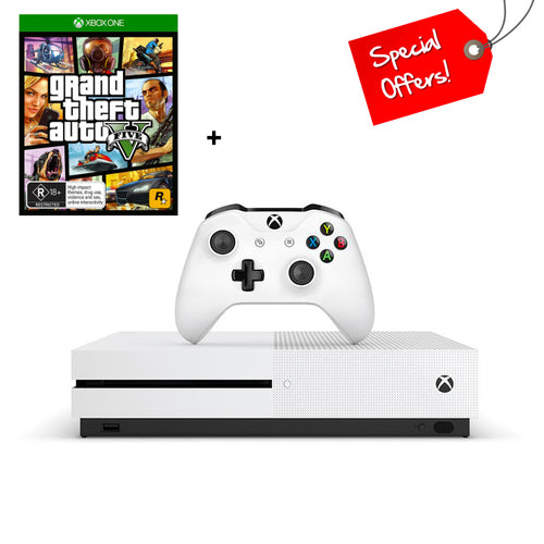 Xbox One S 1TB Console + Grand theft Auto 5 (Game)
