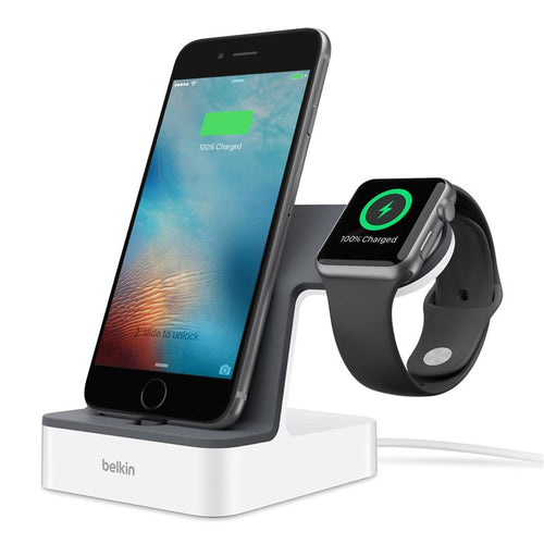 Belkin PowerHouse Charge Dock for Apple Watch & iPhone (White) - iChameleon