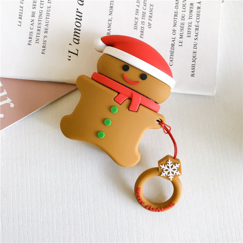 Deluxe Case for Apple AirPods 2/1 (Gingerbread Man)