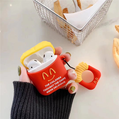 Deluxe Case for Apple AirPods 2/1 (Fries)