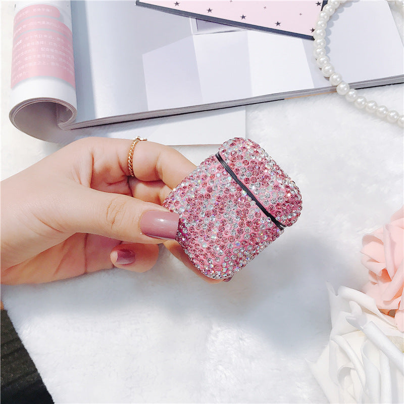 Deluxe Case for Apple AirPods 2/1 (Bling Pink)