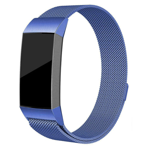Milanese Style Band For Fitbit Charge 3 (Navy)