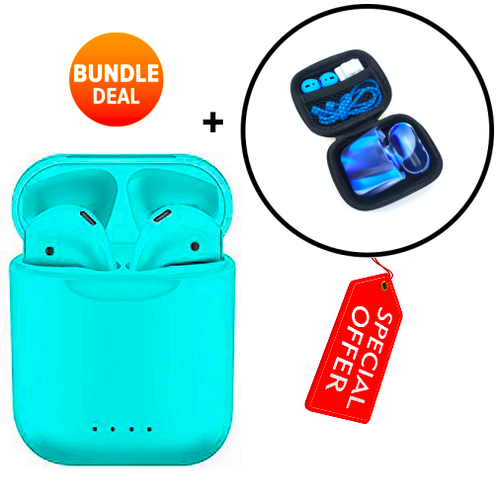 i88 with Charging Case + Protective Case (2019) (Starter Pack) [Bundle]