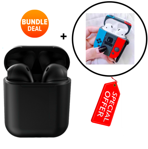 inPods with Charging Case + Protective Case (2019) (Black) [Bundle]