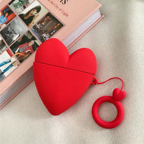 Deluxe Case for Apple AirPods 2/1 (Love Heart)