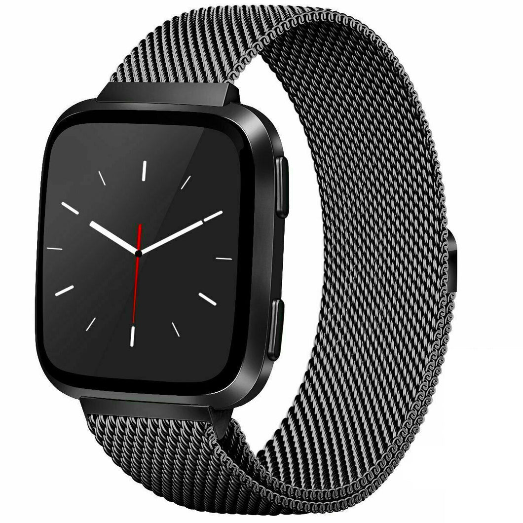 Milanese Style Band For Fitbit Versa 2 (Black)
