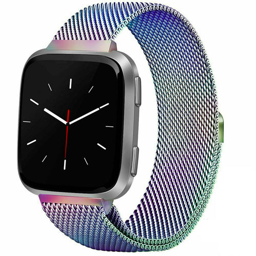 Milanese Style Band For Fitbit Versa 2 (Rainbow)