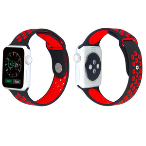 Sport Band For Apple Watch Series 4/3/2/1 (Black/Red) - iChameleon