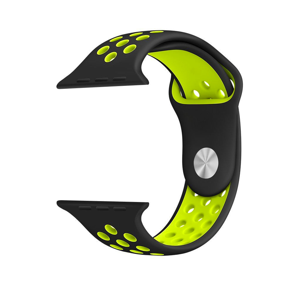 Sport Band For Apple Watch Series 4/3/2/1 (Black/Yellow) - iChameleon