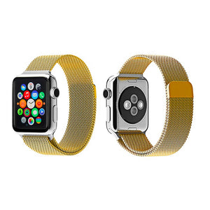 Milanese Style Band For Apple Watch Series 4/3/2/1 (Light Gold) - iChameleon