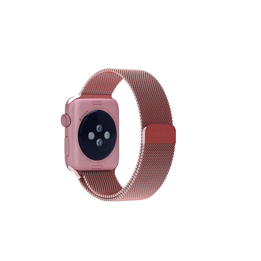 Milanese Style Band For Apple Watch Series 4/3/2/1 (Pink) - iChameleon