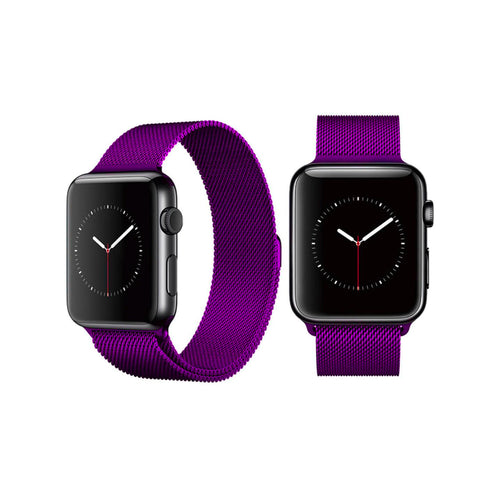 Milanese Style Band For Apple Watch Series 4/3/2/1 (Purple) - iChameleon