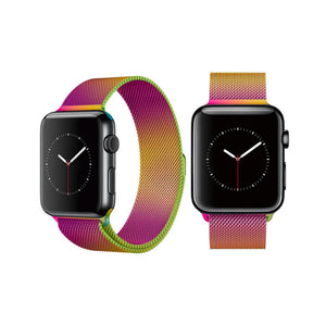 Milanese Style Band For Apple Watch Series 4/3/2/1 (Rainbow) - iChameleon