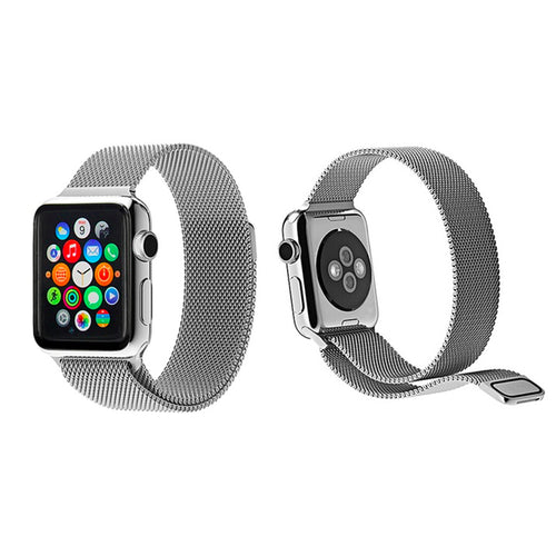 Milanese Style Band For Apple Watch Series 4/3/2/1 (Silver) - iChameleon