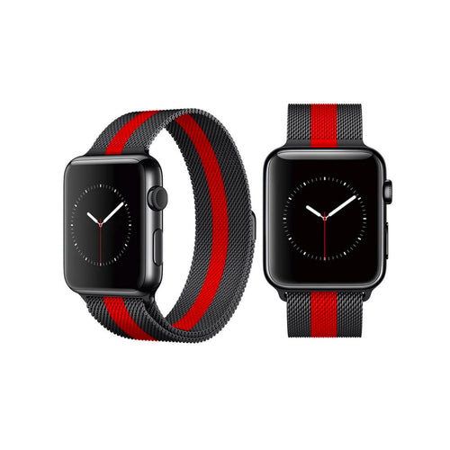 Milanese Style Band For Apple Watch Series 4/3/2/1 (Stripe) - iChameleon
