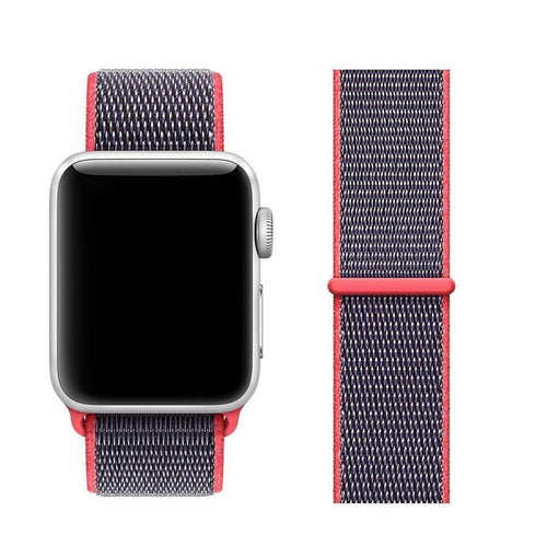Nylon Sport Loop Band For Apple Watch Series 4/3/2/1 (Electric Pink) - iChameleon