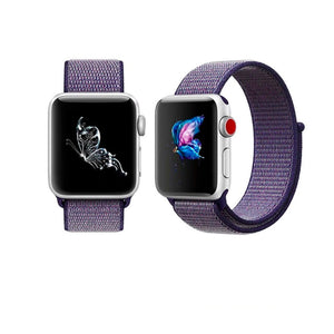 Nylon Sport Loop Band For Apple Watch Series 4/3/2/1 (Midnight Blue) - iChameleon