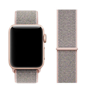 Nylon Sport Loop Band For Apple Watch Series 4/3/2/1 (Pink Sand) - iChameleon