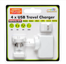 Load image into Gallery viewer, 4 Port USB & Travel Charger