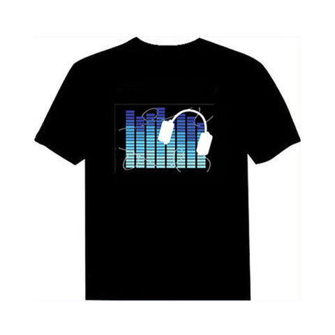 10 Colors Unisex | Sound Activated Light up LED Party TShirt for both Men & Women