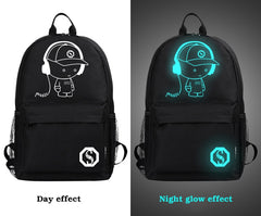Anti-Theft Luminous School Backpack
