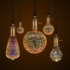 3D Star Fireworks Night Bulb