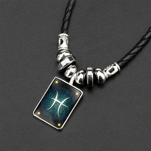 Twelve Constellations Crystal Necklace