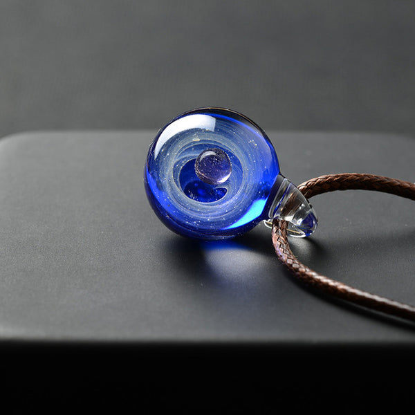 Galaxy Glass Pendant Necklace