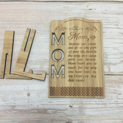 Mother's day Bamboo Wood Greeting Card