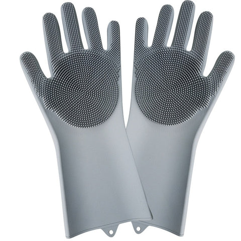 Multi-Purpose Cleaning Silicone Sponge Gloves (BPA free)
