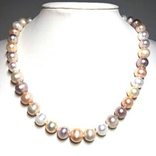 "Load image into Gallery viewer, Classic 10mm 18"" Freshwater Pearl Necklace"