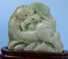 Load image into Gallery viewer, Certified Jadeite (Natural & Untreated) Sculpture Statue - Kirin