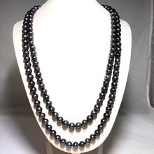 "Load image into Gallery viewer, Long 8 mm 50"" Freshwater Pearl Necklace"
