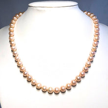 "Load image into Gallery viewer, Classic 8mm Freshwater Pearl Necklace (16"", 18"" or 22"")"