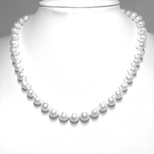 "Classic 8mm Freshwater Pearl Necklace (16"", 18"" or 22"")"