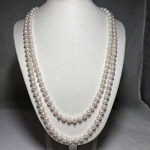 "Long 8 mm 50"" Freshwater Pearl Necklace"