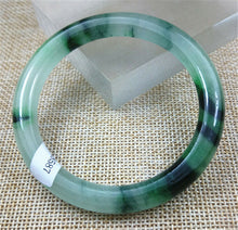 Load image into Gallery viewer, Certified Grade A Natural Green Jadeite Jade Bangle (59 mm)