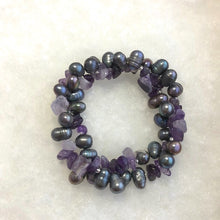 Load image into Gallery viewer, Freshwater Pearls and Gemstone Bracelets