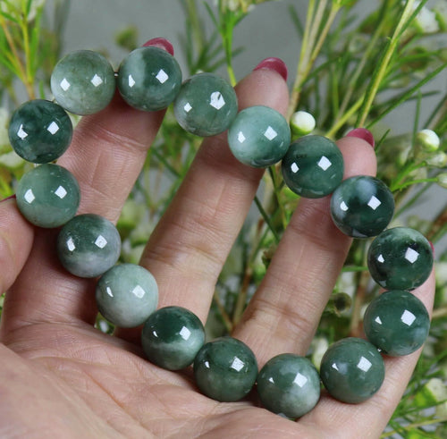 100% Natural A Quality Icy Green 12mm 7.5