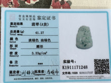 Load image into Gallery viewer, Certified Natural Untreated Grade A Jadeite Jade Pendant Crane Vase 鹤瓶