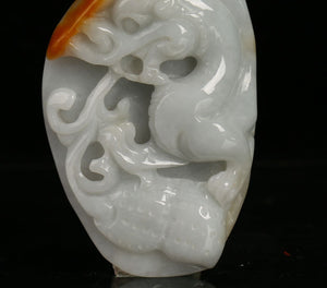 Certified Natural Untreated Grade A 2 Colors Jadeite Jade Pendant Zodiac Dragon龙