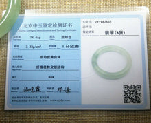 Load image into Gallery viewer, Certified Grade A Natural Ice Emerald Light Green Jadeite Jade Bangle (57.3 mm)