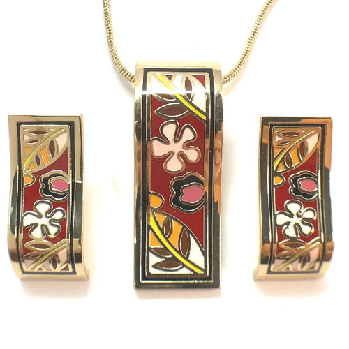 Colorful and Fashionable Cloisonne Enamel Jewelry Sets 2