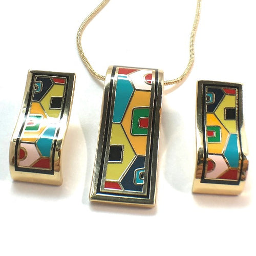 Colorful and Fashionable Cloisonne Enamel Jewelry Sets 1
