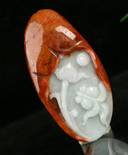 Load image into Gallery viewer, Certified Natural Untreated Grade A 2 Colors Jadeite Jade Pendant Lotus Fish 年年有余