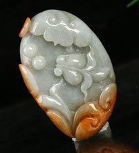 Load image into Gallery viewer, Certified Natural Untreated Grade A 2 Colors Jadeite Jade Pendant Fish & Ruyi 如意有余