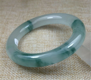Certified Grade A Natural Ice Green Jadeite Jade Bangle (59.3 mm)