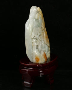 Certified Jadeite (Natural & Untreated) Sculpture Statue - Landscape 5