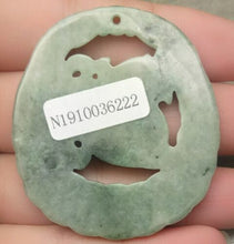 Load image into Gallery viewer, Certified Natural Untreated Grade A 2 Colors Jadeite Jade Pendant Coin Pi Xiu 钱貔貅
