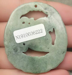 Certified Natural Untreated Grade A 2 Colors Jadeite Jade Pendant Coin Pi Xiu 钱貔貅